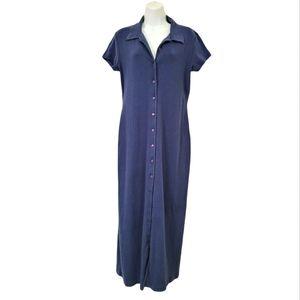 Moda International Full Length Button Down Dress L